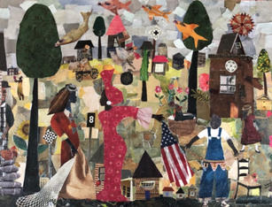 Are you ready to catch freedom? 2020 Collage 18 x 24 inches (sold)