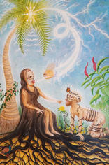 Norbert Kox Adam and Eve nd Oil on canvas (rolled) 70 x 50 in.