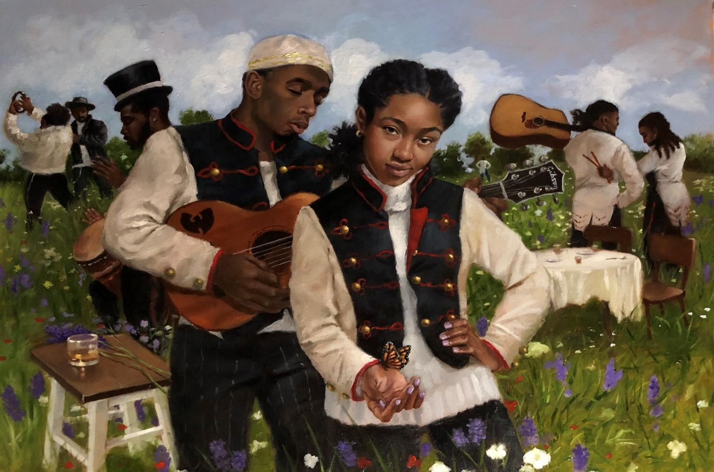 Jerry Jordan Lavender Park, 2020 Oil on canvas 30 x 40 inches