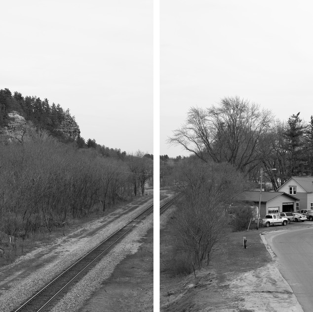 Mark Brautigam, Camp Douglas, 2018. Diptych, archival pigment prints on baryta fiber paper, 40 x 60 inches