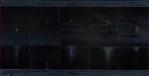 David Niec Panel 2, JuneMoon Cycle over Lake Michigan