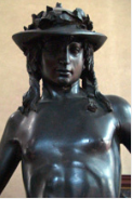 Donatello's David Bust view