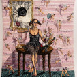 Shari Urquhart Woman I, Stage III, 1995 Wool and Acrylic fibers with metallic thread 100 x 86 inches