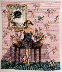 Shari Urquhart Woman I, Stage III, 1995 Wool, mohair, metallic fiber, acrylic yarn & silk fibers 100 x 86 inches