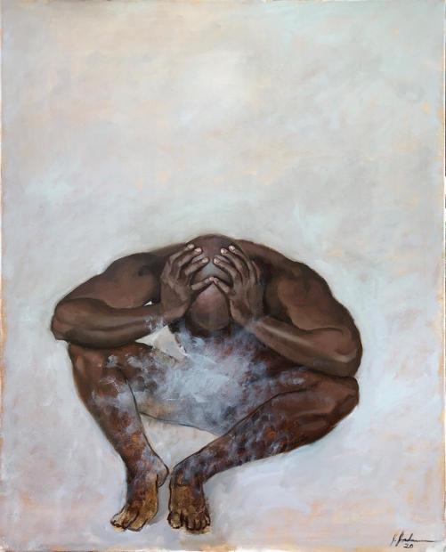 Pressure Oil on canvas 40 x 30 inches