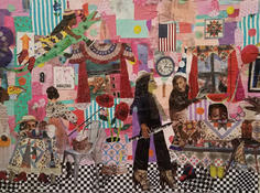 This is Miss Anne Again, Trying to Spoil Our Party, 2018 Collage, 33 1/4 x 41 inches