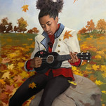 Jerry Jordan Autumn Leaves Oil on canvas 40 x 30 inches