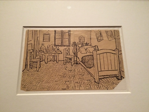 van gogh's bedroom sketch