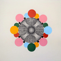 Mark Ottens Untitled (circles), 2020 Ink and acrylic on paper 7.5 x 7.5 inches $250 (unframed)