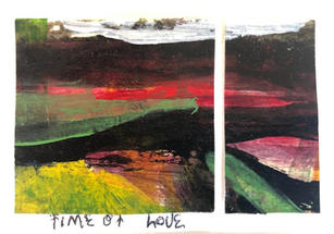 Time of Love Acrylic and watercolor on paper