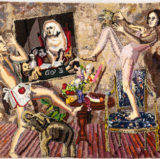 Shari Urquhart Hung Jury, 1986-87 Wool and Acrylic with metallic thread 80 x 102 inches