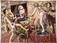 Shari Urquhart Hung Jury, 1986-87 Wool, mohair, metallic fiber, acrylic yarn & silk fibers 80 x 102 inches