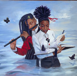 Jerry Jordan Floetry Oil on canvas 30 x 40 inches