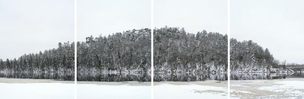 Mark Brautigam Wisconsin River, 2017 Inkjet print Variable dimensions: 20 x 60 (4 15 x 20 prints) 32 x 96 (4 24 x 32 prints)