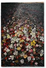 Guadar Silencio, Keep Silent 2017 Oil on canvas 72 x 48 inches