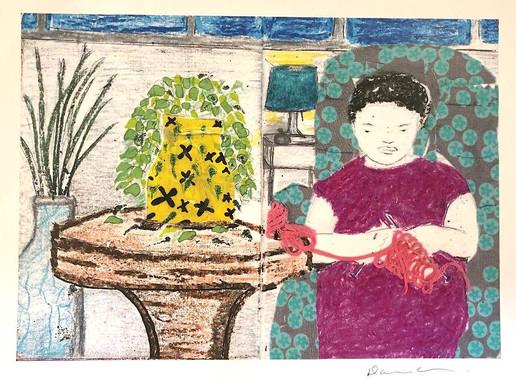 Darlene Allen, sewing, sketchbook pages