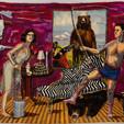 Shari Urquhart Dresser of Disdain, 1990 Wool and Acrylic fibers with metallic thread  83 x 126 inches