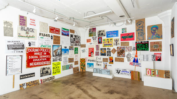 Installation view, Art and Protest, 2020