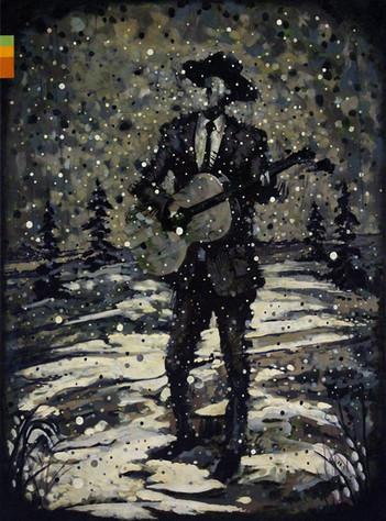 Musician in Winter (guitar)