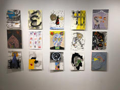 Installation view, drawings