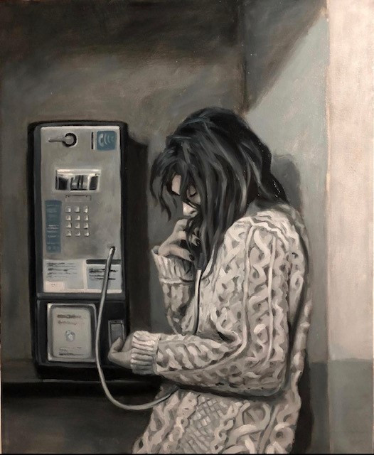 Jerry Jordan Collect Call, 2020 Oil on canvas 30 x 24 inches