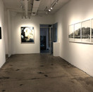 Installation view with Mark Brautigam (right) and Lauren Semivan