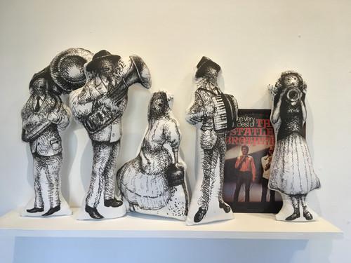 Printed Musician dolls