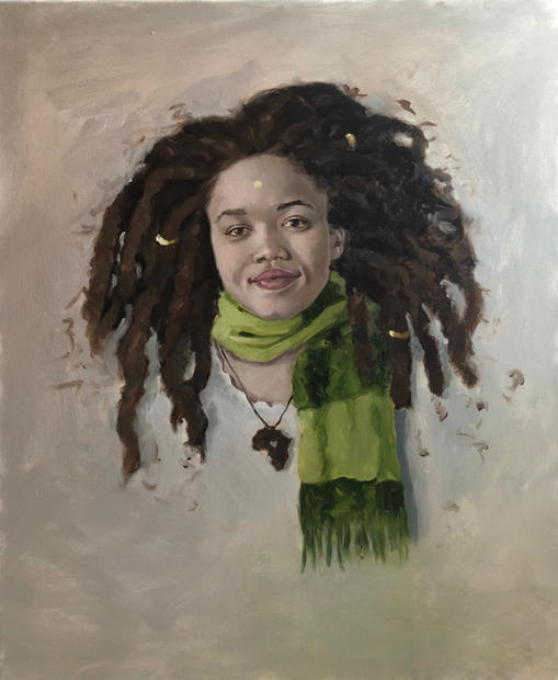 Hair #2, 2019 Oil on canvas 28 x 22 inches