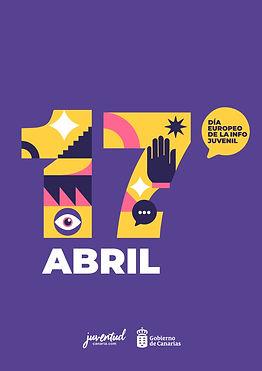cartel 17 de abril dia europeo de la información juvenil juventud canaria