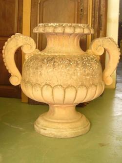 Paire vases terre cuite