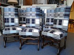 Six chaises de style Louis XIII JP Gaultier