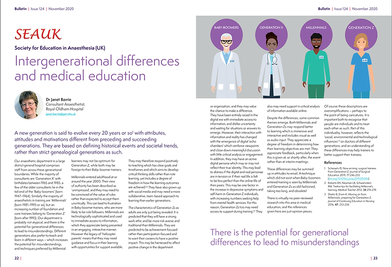 Intergenerational differences and medica