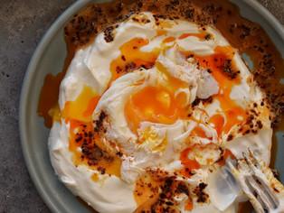Turkish Poached Eggs (Cilbir) Recipe