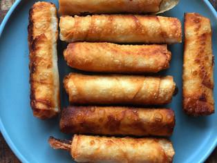 Turkish Pastry Rolls with Pastrami-Pacanga Boregi