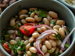 Simple Turkish White Bean Salad, Piyaz