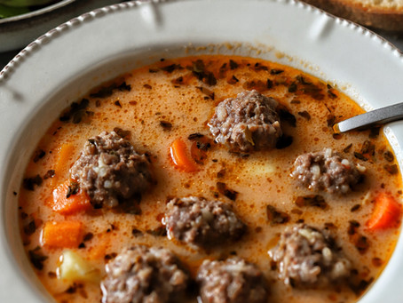 Turkish Sour Beef Meatballs Soup Recipe
