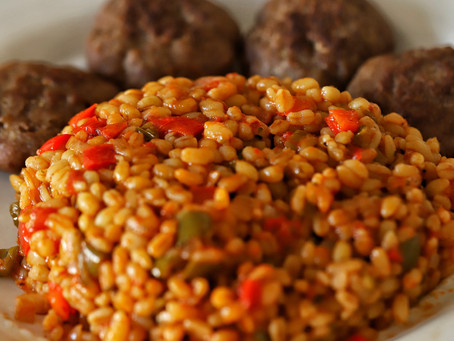 Red Bulgur Pilaf with Peppers Recipe