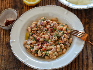 Turkish White Bean Salad with Tahini