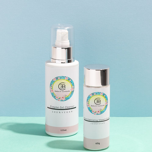 Enzyme Gel Cleanser and Exfoliating Vitamin Crystals Duo