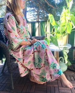 Maxi Kimono: Cherry Blossom Pink
