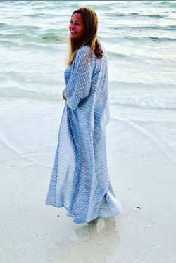 Maxi Kimono: Blue