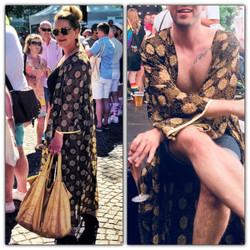 Maxi Kimono: Black/Gold Unisex