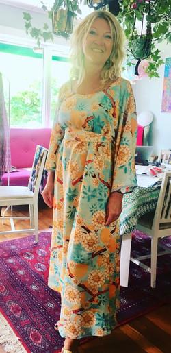 Maxi Kaftan: Cherry Blossom Yellow