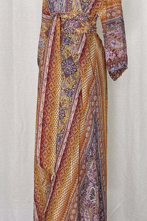 Maxi Kimono Paisley Yellow
