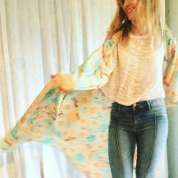 Maxi Kimono: Cherry Blossom Yellow