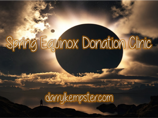 NEW Spring Equinox Donation Clinic