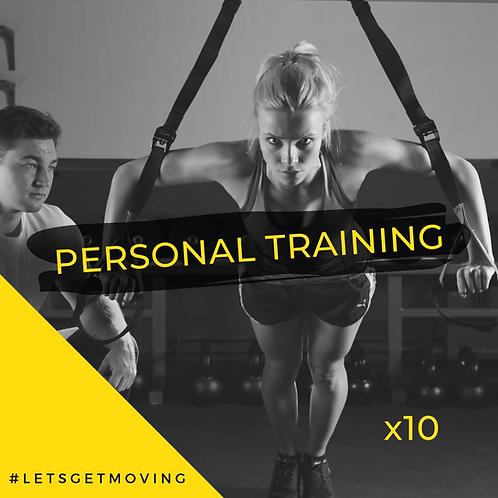 1:1 Personal Training x10