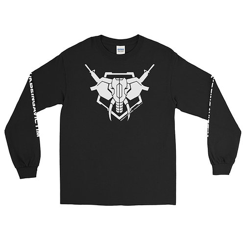 "Reddick Firearms Training LOGO Long Sleeve Shirt w/ ""FUKBEINGAVICTIM"" on sleeve"
