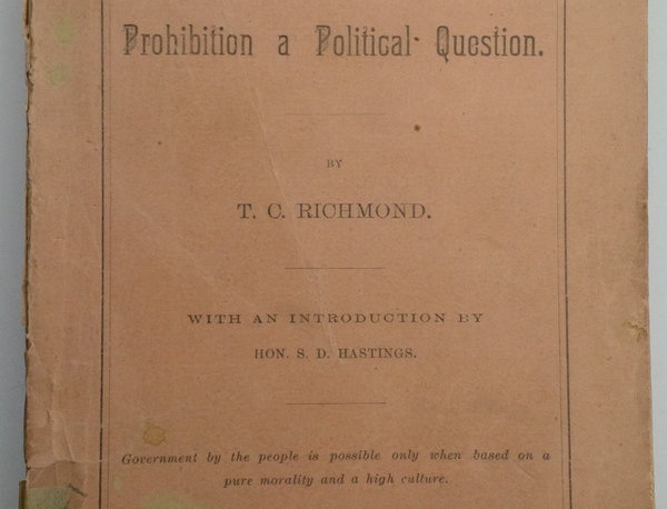 THE ISSUE OF '88, or Prohibition a Political Question