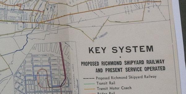 Wartime Plan to develop Richmond Shipyard Railway - Key Route
